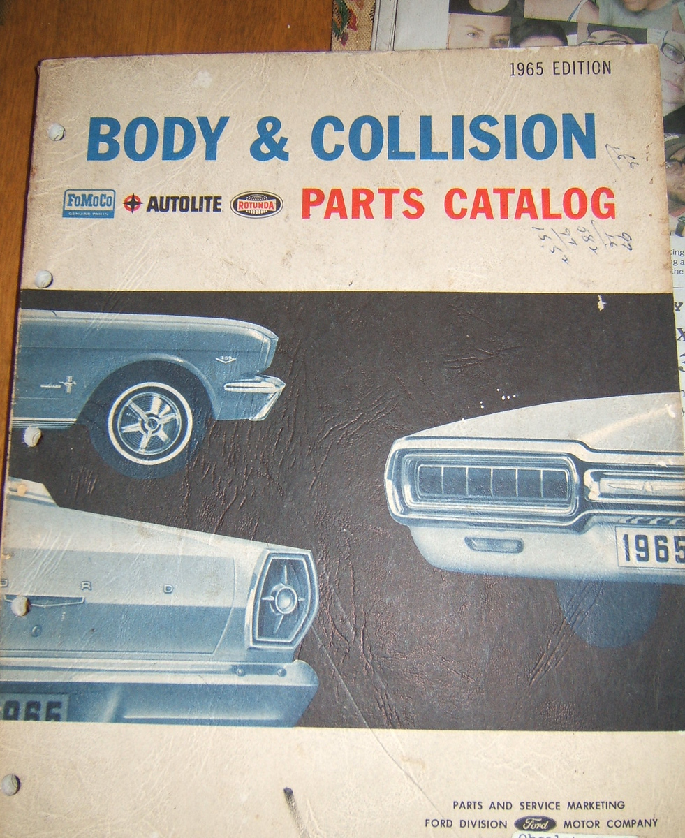 1966 Ford Body & Collision parts Reference Catalog (A 1966 ford body)