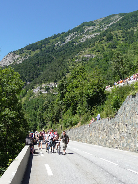 As the day wore on, there were more walkers of bikes. Location - Alpe d'Huez