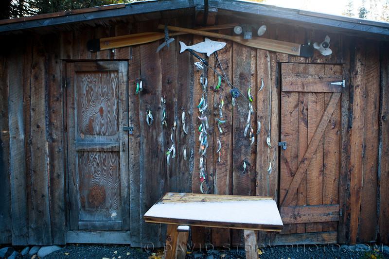 The AWA fish shack. Cooper Landing.