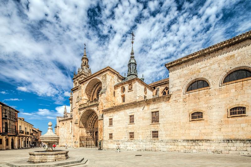 Facade of the Cathedral, El Burgo de Osma, Soria, Spain