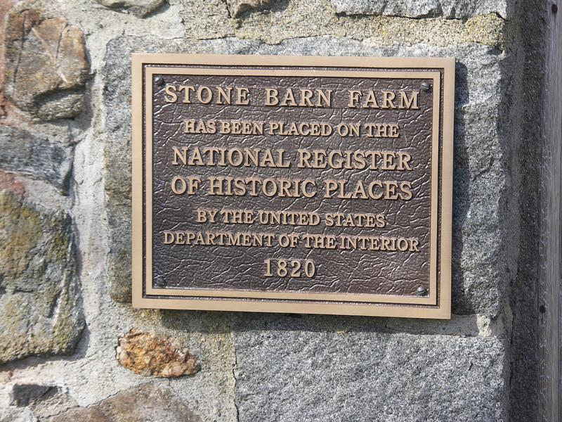 Stone Barn plaque