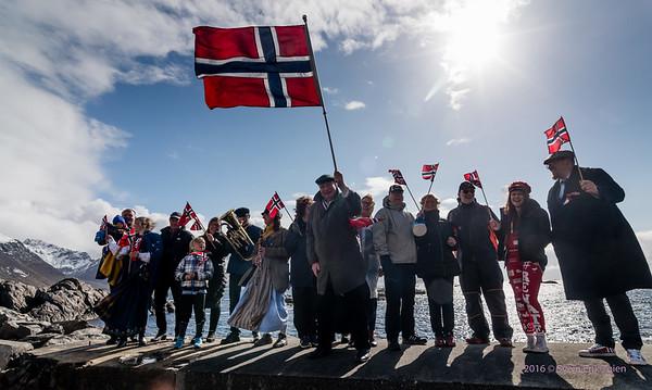 Nyksund 17. of May parade 2016