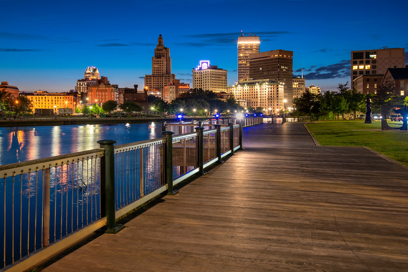 River walk in Downtown Providence, Rhode Island