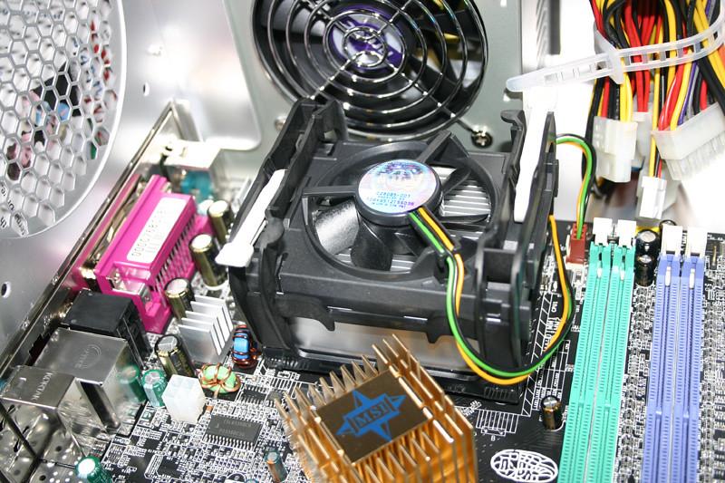 CPU Heatsink/fan installed