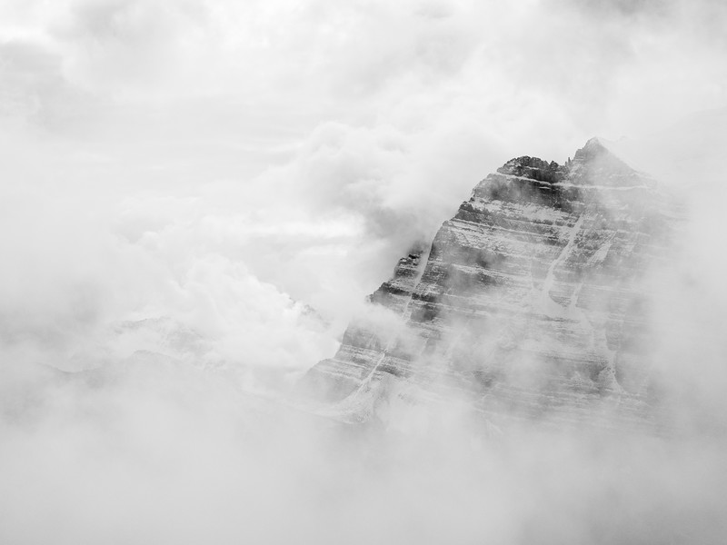 Haddo Peak through the clouds