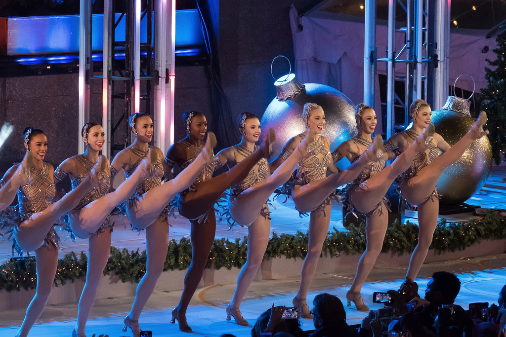 . The Rockettes perform during the 85th annual Rockefeller Center Christmas Tree lighting ceremony on Wednesday, Nov. 29, 2017, in New York. (Photo by Charles Sykes/Invision/AP)