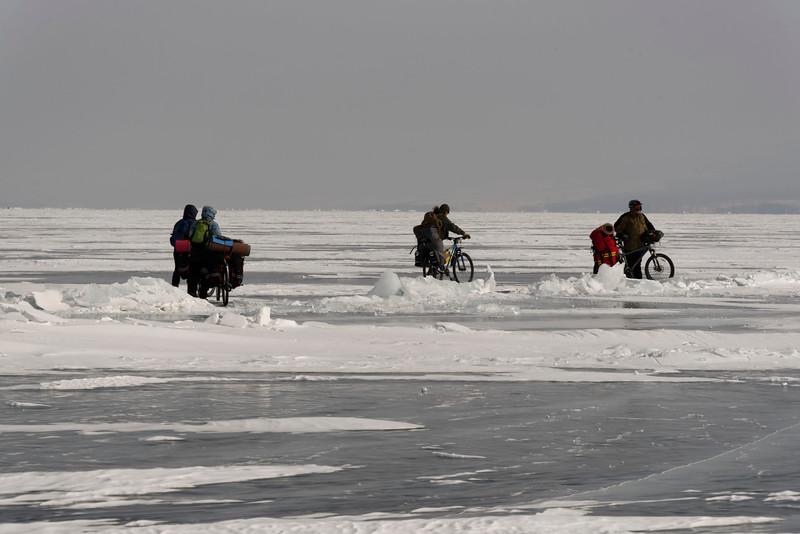 Ice formations and coast at Malyy Kuzhir