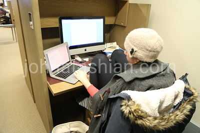 Trinity College - Students studying - December 11, 2013