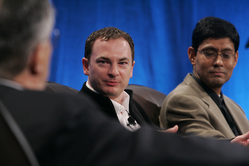 """""""Collaborative (Green) Innovation"""": (L-R) Moderator Robert Anderson, Director, Technology Transfer and IP, Illinois Institute of Technology; Mark Turrell, CEO, Imaginatik; and Prith Banerjee, Senior VP, Research, and Director, HP Labs, Hewlett-Packard"""