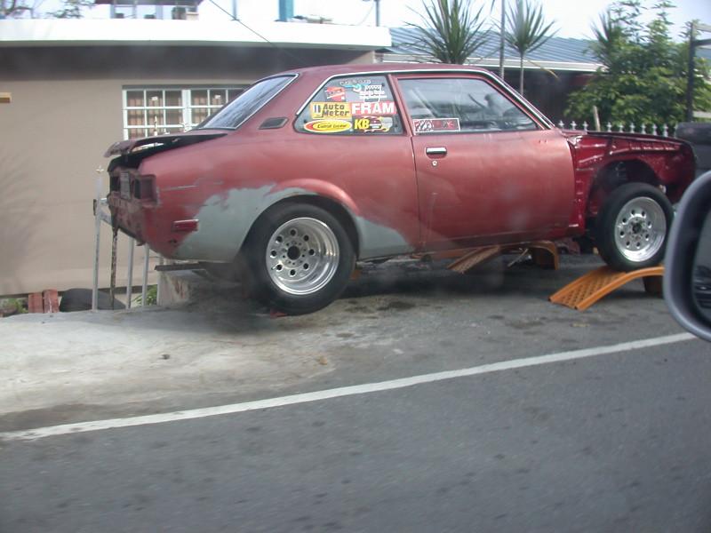 some drag car