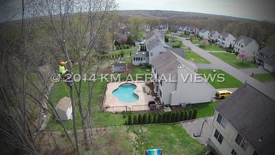 Aerial Views of Tree Work (Shelton, CT) 5/5/14