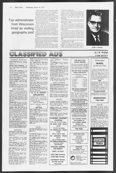 Daily Trojan, Vol. 71, No. 25, March 16, 1977