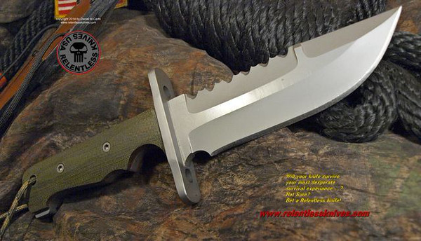 Relentless Knives M1 Aviator Custom Military Survival knife