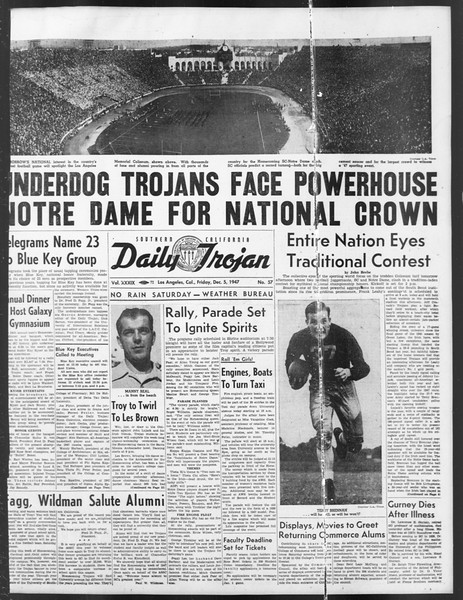 Daily Trojan, Vol. 39, No. 57, December 05, 1947