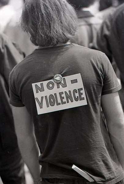 Sign of the times. Anti-war demonstration, Washington DC, May 9, 1970.
