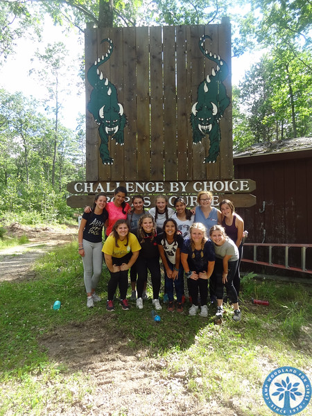 Hilltop goes to the Ropes Course