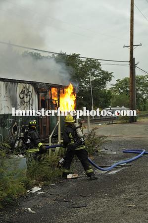 HICKSVILLE FD TRAILER FIRE 10-10-14