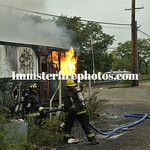 HICKSVILLE FD TRAILER FIRE