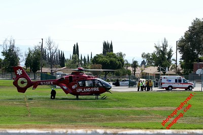 Upland Fire Helicopter Medivac 9 06 2015