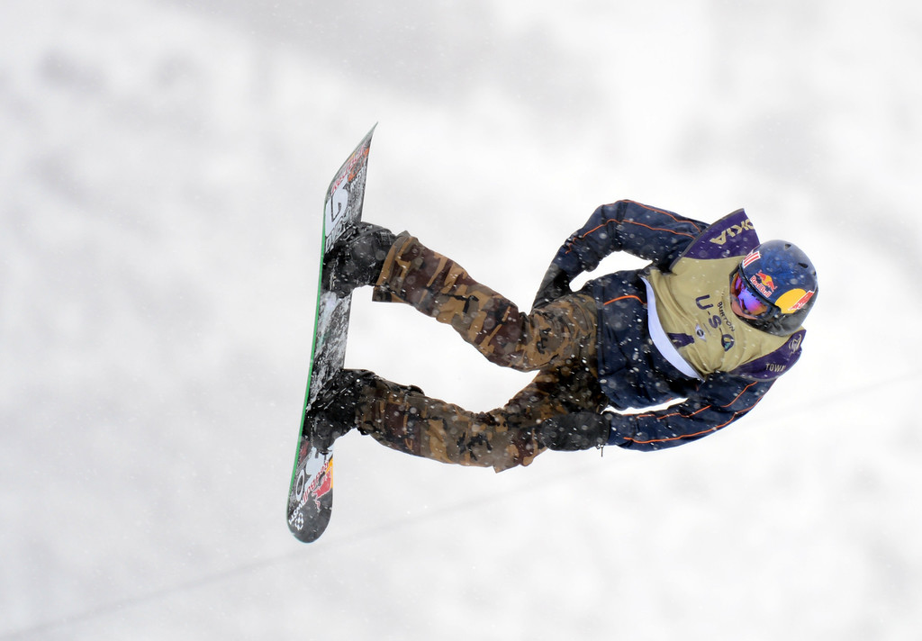 . VAIL, CO. - MARCH 1: Mark McMorris from Canada is in the action during the men\'s slopestyle final of Burton U.S. Open. March 1, 2013. Vail, Colorado. McMorris finished as 1st place. (Photo By Hyoung Chang/The Denver Post)