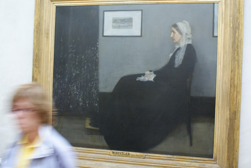 I'm told this painting is quite famous. It's called Whistler's Mother. I don't know how the artist managed to get such lack of detail in the dress and produce that square smudge on the left. Quite an achievement there, Whist.