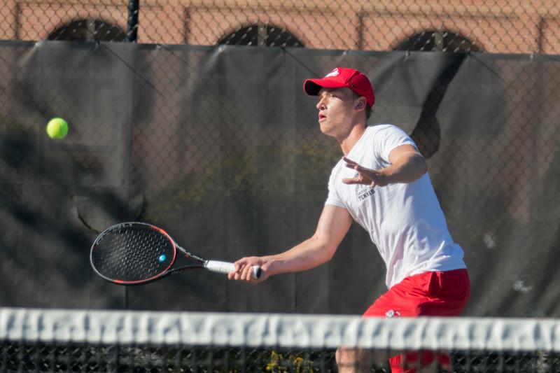 GWU Men's Tennis vs. Appalachian State University Feb 2018