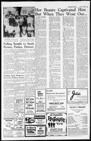 Daily Trojan, Vol. 55, No. 100, April 17, 1964