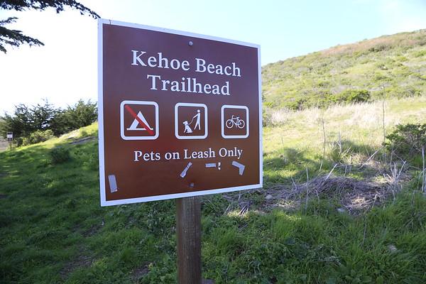 Kehoe Beach Trailhead Signage