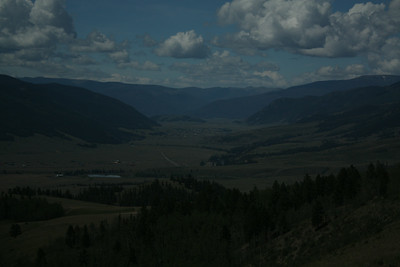 Town of Creede and the valley it sits in