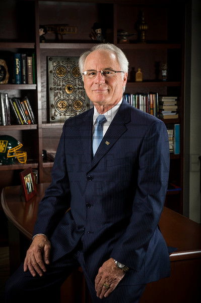 4981 President David Hopkins in his office 3-29-10
