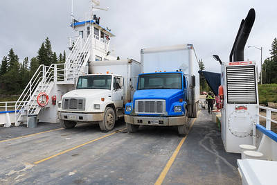 Riding barge Niska I to Moose Factory and back