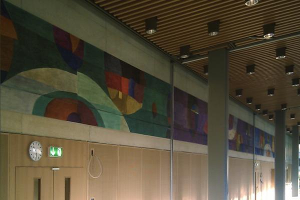 Winterthur, Anton Graff Schulhaus, Wandmalerei Hans Affeltranger