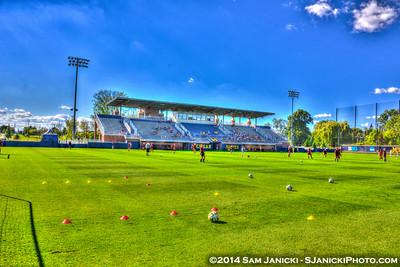 1st Half of UM Women's Soccer Vs CMU 9-7-14