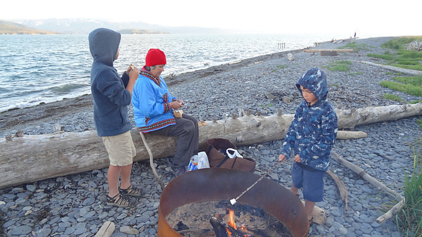 2012 Summer s'mores on the Homer Spit with the grandchildren from Colorado.