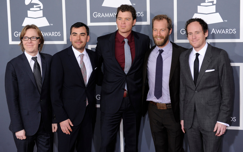 . Steep Canyon Rangers arrives to  the 55th Annual Grammy Awards at Staples Center  in Los Angeles, California on February 10, 2013. ( Michael Owen Baker, staff photographer)