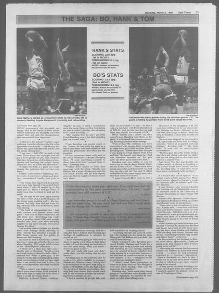 Daily Trojan, Vol. 106, No. 36, March 03, 1988