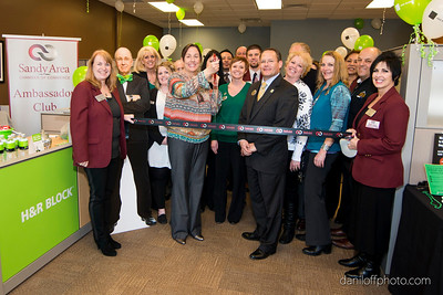 H & R Block - Ribbon Cutting - Sandy Area Chamber of Commerce