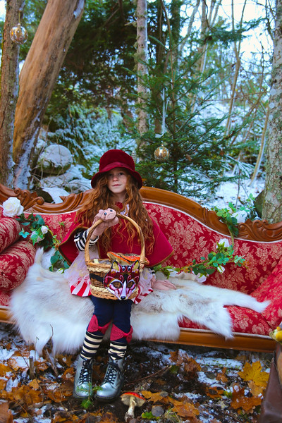 Little Red Riding Hood In Christmas Wonderland