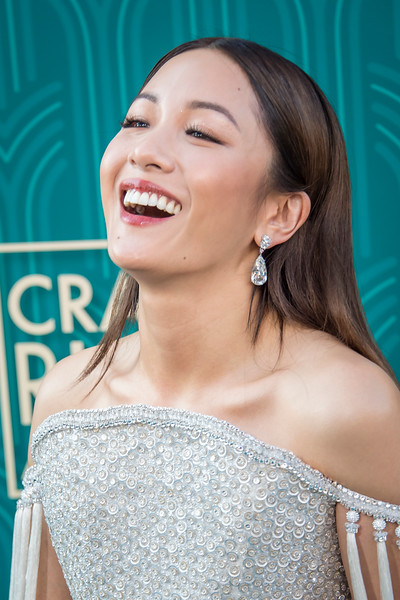HOLLYWOOD, CA - AUGUST 07: Constance Wu arrives at Warner Bros. Pictures' 'Crazy Rich Asians' Premiere at TCL Chinese Theatre IMAX on Tuesday, August 7, 2018 in Hollywood, California. (Photo by Tom Sorensen/Moovieboy Pictures)