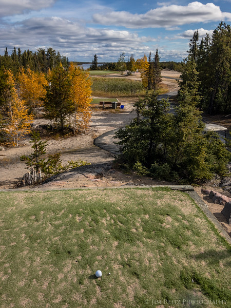 The par-3 11th hole at Yellowknife Golf Club