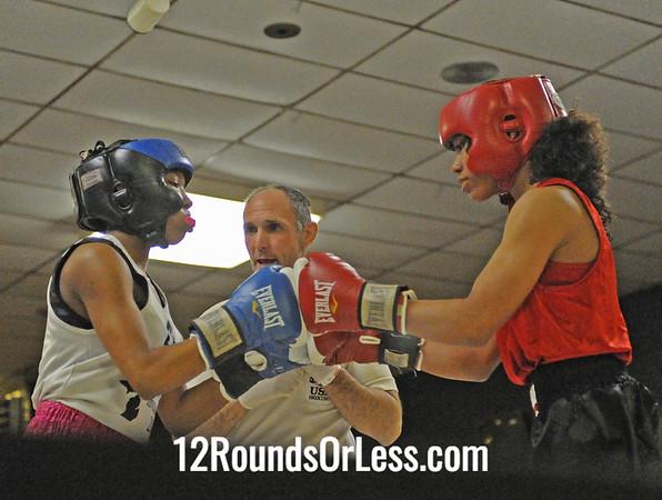 Alicia Bumgardner (Fremont Wreckers) vs Jasamine Hamptopn (Ann Arbor)  Senior Division  Bout # 7