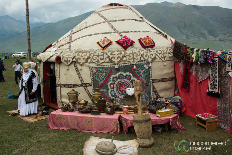 Traditional Kyrgyz Art and Yurt - World Nomad Games, Kyrgyzstan