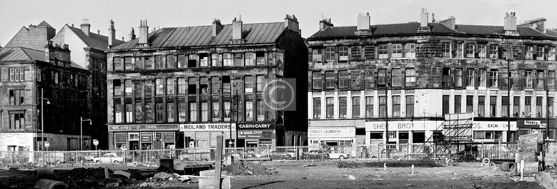 Norfolk St, north side, after the demolition of the southwest corner of the Cross.    November 1973