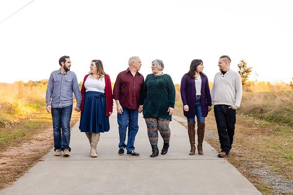The Jamiesons | Joyful Golden Fall Family Photos at the North Carolina Museum of Art