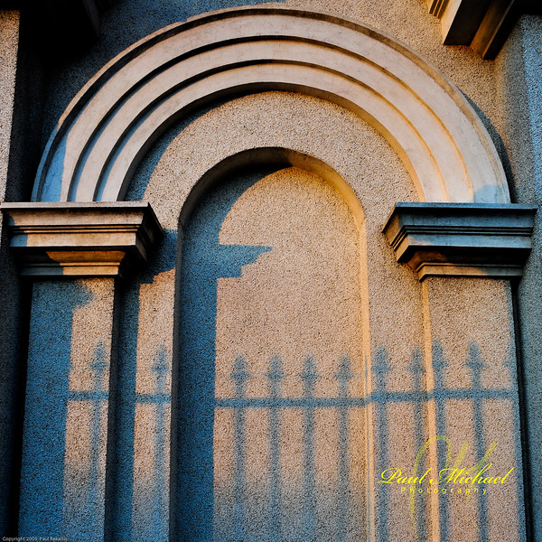 cool fence shadows.
