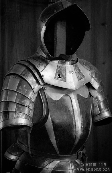 Knight's Armor   Black and White Photography by Wayne Heim