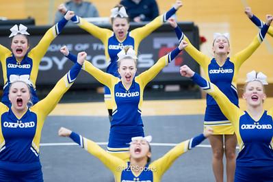 Varsity Cheerleading at OAA White Meet 1/10/2019