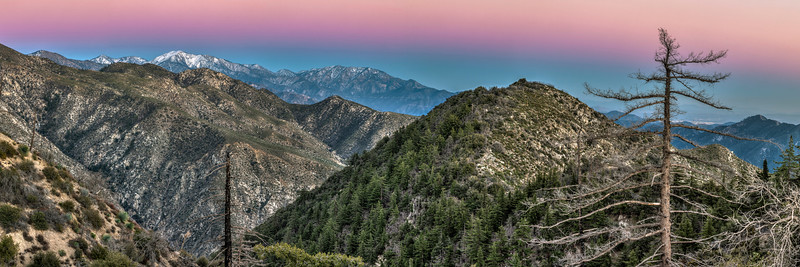 Dusk in Angeles National Forest