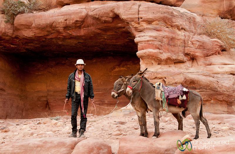 Waiting With His Donkeys - Petra, Jordan