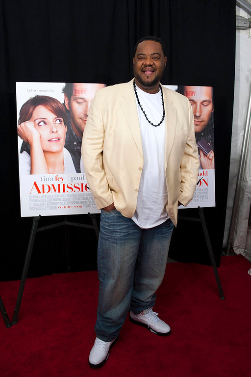 ". Actor Grizz Chapman poses at the premiere of ""Admission\"" in New York, March 5, 2013. REUTERS/Keith Bedford"